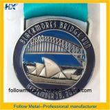 As medalhas com fitas, funcionamento da ponte de Blackmores, morrem a carcaça