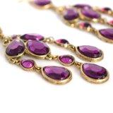 قطرة أرجوانيّة [رهينستون] [تسّل] [دروب رّينغ] لأنّ نساء نمط مجوهرات رواق [إرينغس] طويل