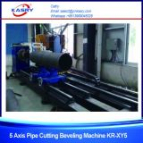 Многофункциональный резец Beveler плазмы CNC стальной трубы углерода 8 осей с сборником пыли Kr-Xf8