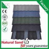 Tetto rivestito di pietra a buon mercato colorato del metallo delle mattonelle di tetto del metallo di alta qualità