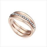 VAGULA 금 모조 다이아몬드 혼합 색깔 아연 합금 결혼 반지