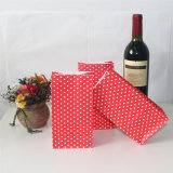 Striped respectueux de l'environnement Red Yellow Black Paper Bags pour Party