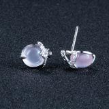Серег стержня способа стерлингового серебра женщин 925 шикарных розовых кристаллический