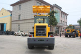 3 Tonnen-Rad-Ladevorrichtung mit 1.7m3 Wanne, 4 in 1 Wanne, Mulcher