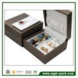 Boîte à bijoux en plastique personnalisée avec cuir PU