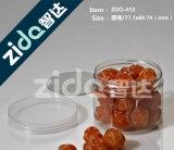 Frascos plásticos do animal de estimação do produto comestível com tampa de alumínio