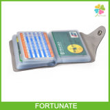 Дешевая книга держателя кредитной карточки дела PVC пластичная