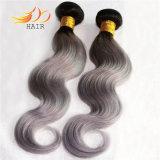 ペルーのRemyの毛2の音色の薄い色ボディ波の毛の織り方