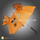 自動車の開いた子供の傘