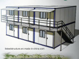 Casa Two-Storey do Prefab do ambiente da casa verde da venda quente