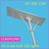 El diseño moderno APP todo en una luz solar del LED