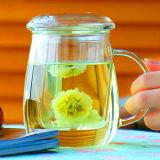 Taza de té de cristal de la taza de la seta del diseño hermoso