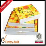 Boîte ondulée stratifiée la meilleur marché personnalisée grande par usine à pizza avec l'impression, cadre de carton, boîte-cadeau de papier, cadre de empaquetage