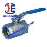 Vávula de bola roscada del acero inoxidable de DIN/API 2PC