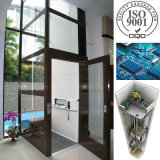ISO9001 Passenger Sightseeing Accueil Elevator Villa Lift Without Machine Room