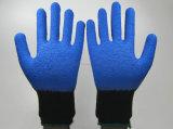 Перчатки работы безопасности Industiral Crinkle покрынные латексом трудные защитные (LS004)