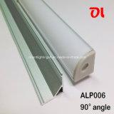 Extrusões de alumínio do alumínio do diodo emissor de luz do perfil Alp006