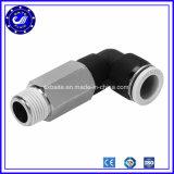 Fabriek 10mm van China OEM de Snelle Pneumatische Duw van Schakelaars in Montage van de Compressor van de Lucht van de Types van L van de Schakelaar van de Montage de Snelle Gezamenlijke