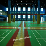 Pavimentação dos esportes internos do PVC usada para cortes de Badminton