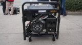 AC単一フェーズ、220Vおよびカバーが付いているM6500e 5kwの高品質ガソリン発電機