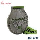 Ottone su ordinazione dell'oggetto d'antiquariato della medaglia di sport placcato