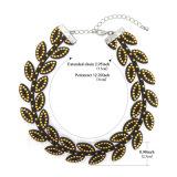 De zwarte Halsband van de Nauwsluitende halsketting van het Leer in het AcrylGoud van het Plateren van het Blad
