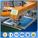 Stampatrice automatica della matrice per serigrafia del contrassegno di figura rotonda di 4 colori