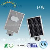 Personnalisé intégré tous dans un réverbère solaire de DEL avec 3 ans de garantie