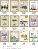 De decoratieve Moderne Nieuwe Stad van Ontwerpen van het Schilderen, het Schilderen van de Kunst