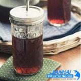 Choc de maçon pour la bouteille en verre de mémoire de boisson et de nourriture
