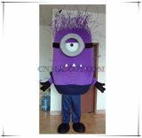 Alta qualidade roxa tóxica do traje dos desenhos animados da mascote do sequaz