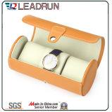 Caisse d'emballage de empaquetage d'étalage de cadeau d'emballage de montre de cas de mémoire de montre de papier maroquin de velours de cadre de montre du bois (YS196)