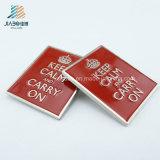 Pin значка нового прямоугольника эмали промотирования сплава конструкции красного изготовленный на заказ