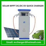Angeschaltene EV verwendete EV schnell Solaraufladeeinheit der Ladestation-mit Chademo und SAE-kombiniertem Verbinder