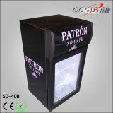 Countertop-einzelner Glaskühlenschaukasten mit hellem Kasten (SC40B)