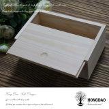 Hongdao 주문품 미완성 자연적인 색깔 나무로 되는 선물 수송용 포장 상자 _E