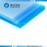 El panel plástico de la depresión del policarbonato del panal de la Multi-Pared con el SGS