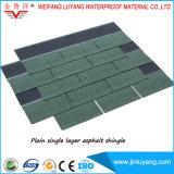 Fabrik-Zubehör-einlagiger Faser-Glas-bunter Asphalt-Dach-Schindel für Verkauf