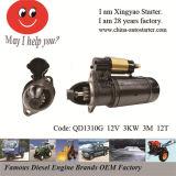 Solo motor de arrancador usado carro de los motores diesel del cilindro (QD1310G)