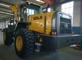 Caricatore Sdlg LG958L della rotella del macchinario di costruzione di marca della Cina 5t