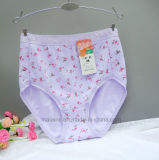 Alto algodón Panty de las señoras de la cintura