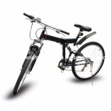 "26 "" Mountain d'profilatura Bicycle 7-Speed Foldable Bike Black MTB Sport Fold"