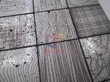 艶をかけられた塗るTravertineの芸術デザイン石のモザイク(CFS1189)