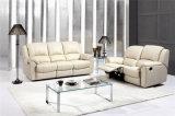 Sofá casero del cuero de los muebles con el color de Brown