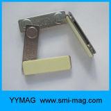 良質の再使用可能な金属の磁石の名前入りの記章