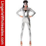 Девушки спайдера мычки партии Halloween женщин Costume Catsuit втулки сексуальной длинний