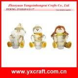 Decorazione di natale (ZY11S121-1-2-3 10 '') Santa & pupazzo di neve & angelo