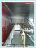 Rimorchio mobile degli alimenti a rapida preparazione dell'acciaio inossidabile