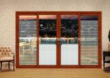 Büro-Partition mit motorisierten Jalousien zwischen Isolierglas