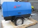 Compressor de ar giratório do parafuso da movimentação portátil do motor diesel para o sopro de areia (SYC-5/7)